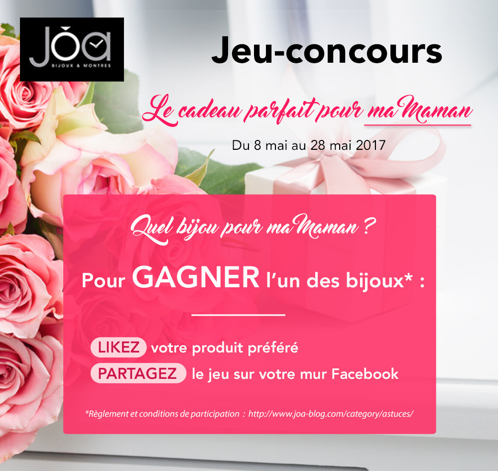 r glement jeu concours le cadeau parfait pour ma maman joa shop blogjoa shop blog. Black Bedroom Furniture Sets. Home Design Ideas
